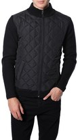 7 Diamonds Men's 'Gatti' Quilted Panel Lambswool Knit Jacket