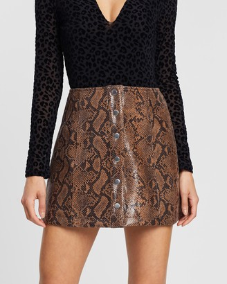 ASTR the Label Come Slither Skirt