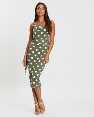Pasduchas Fresco Blouson Midi Dress