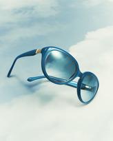 Roberto Cavalli Rounded Cat-Eye Sunglasses, Blue