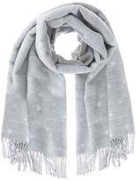 Mint Velvet Star Blanket Scarf, Light Grey