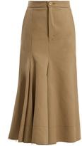 Joseph Laurel cotton and silk-blend midi skirt
