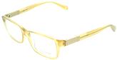 Giorgio Armani Beige Square Eyeglasses