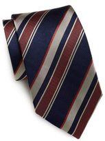 Saint Laurent Multistriped Silk Tie