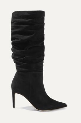 Alexandre Birman Lucy Suede Knee Boots - Black
