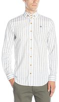 Vivienne Westwood Men's Long Sleeve Printed Oxford Two Button Krall Shirt