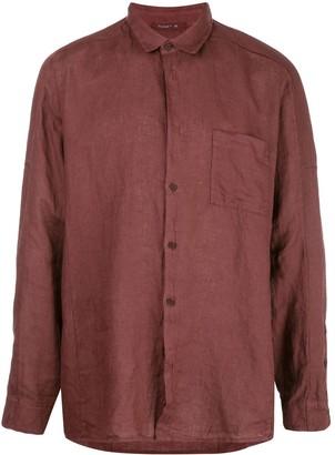 Transit Pointed Collar Linen Shirt