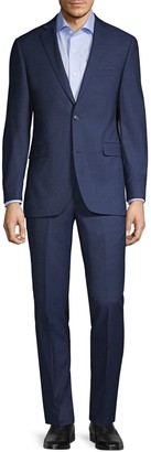 Saks Fifth Avenue Trim-Fit Wool Suit