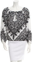 Alice + Olivia Printed Long Sleeve Top w/ Tags