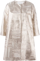 Gianluca Capannolo metallic cropped sleeve coat - women - Silk/Polyamide/Polyester - 42