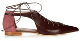 Malone Souliers Montana lace-up leather flats