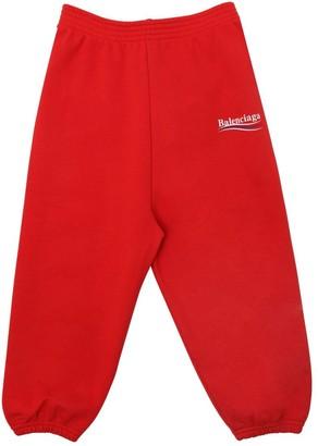 Balenciaga Logo Printed Cotton Sweatpants