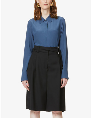 Stella McCartney Long-sleeved silk-crepe shirt