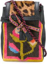 Etro aztec and leopard print mini pouch bag