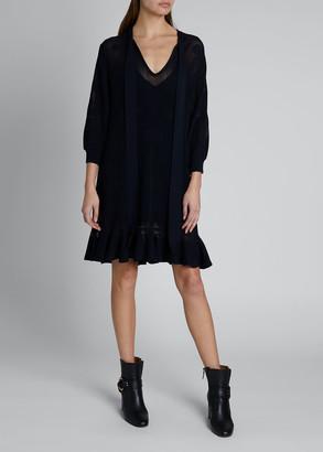 Chloé Netted Tie-Neck Tank Dress