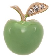 Alison Lou Diamond, enamel & yellow-gold Apple earring