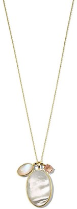 Ippolita 18kt yellow gold Rock Candy Luce 3-stone pendant necklace