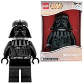 Lego Star Wars Darth Vader Kids Minifigure Light Up Alarm Clock | black/grey | plastic | 9.5 inches tall | LCD display | boy girl | official