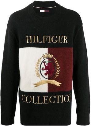Tommy Hilfiger Logo-Embroidered Jumper