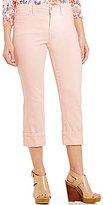NYDJ Petites Dayla Wide Cuff Capri Jeans