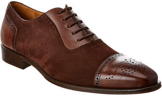 Mezlan Baroque Suede & Leather Oxford