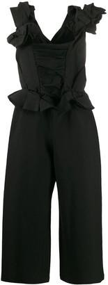Comme Des Garçons Pre Owned 2000s Gathered Asymmetric Jumpsuit