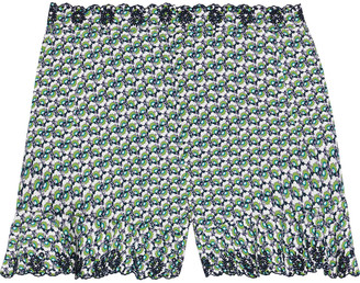 Paco Rabanne Printed Broderie Anglaise Cotton Shorts