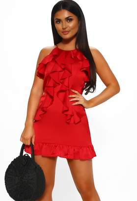 Pink Boutique Feeling Sunkissed Red Ruffle Mini Dress