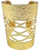 Gottex 18k Plated Textured Cuff.