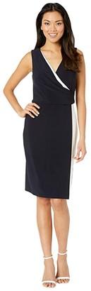 Lauren Ralph Lauren Maribella Sleeveless Day Dress (Lighthouse Navy/Lauren White) Women's Dress