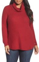 Lucky Brand Plus Size Women's Side Zip Turtleneck Sweater