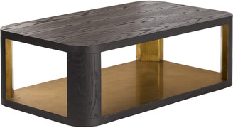OKA Khafra Coffee Table - Lunar Black/Gold