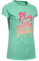Under Armour Girls' UA Play Win Repeat Short Sleeve T-Shirt
