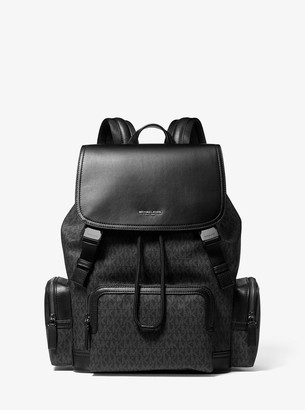 Michael Kors Henry Logo and Leather Backpack