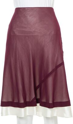 Louis Vuitton Purple Chiffon Flared Skirt M