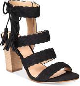 XOXO Binnie Strappy Block-Heel Sandals Women's Shoes