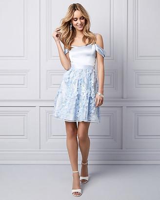 Le Château 3D Floral Cold Shoulder Party Dress