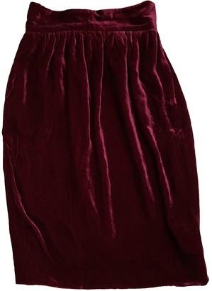 Fendi Burgundy Velvet Skirts