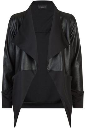 James Lakeland Faux Leather Waterfall Jacket