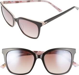 Ted Baker 53mm Square Sunglasses