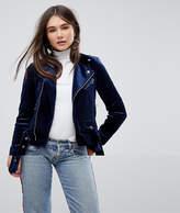 Only Velvet Biker Jacket
