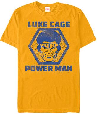 Fifth Sun Men's Tee Shirts GOLD - Luke Cage Gold 'Power Man' Tee - Men