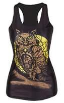xhorizon TM FLK Girls Women Skeleton Skull Digital Printed Sleeveless T-Shirt Vest Tank Tops