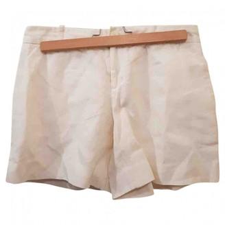 Ralph Lauren Ecru Cotton Shorts for Women