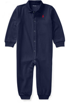 Ralph Lauren Kids Cotton Polo Coverall, Size 3-12 Months