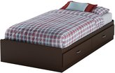 Green Baby South Shore Logik Collection Twin (39'') Mates Bed - Chocolate