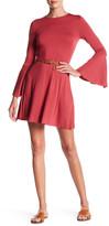 Clayton Sasha Bell Sleeve Mini Dress