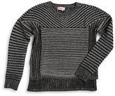 Design History Girls 7-16 Hi-Lo Textured Sweater