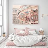 Ruby and B Paris Carousel Canvas Wall Art