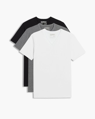 Express 3 Pack V-Neck T-Shirts